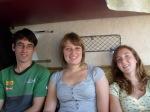 De reizigers: Nick, Hanne, ik.